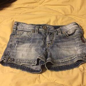 Silver brand jean shorts